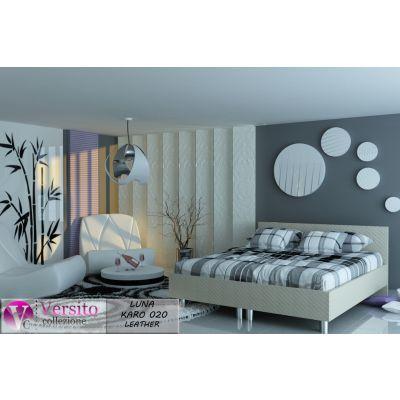łóżko Tapicerowane Luna Karo Leather 10 Kolorów łóżka