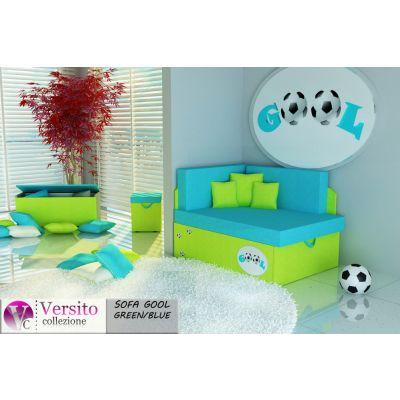 Tapczan Fotel Rozkładany łóżko Gool Green Blue Tapczan