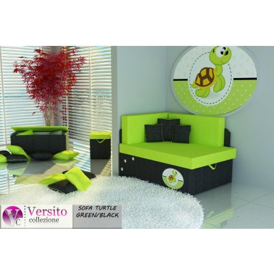 Tapczan Fotel Rozkładany łóżko Turtle Green Blacka Tapczan Dla