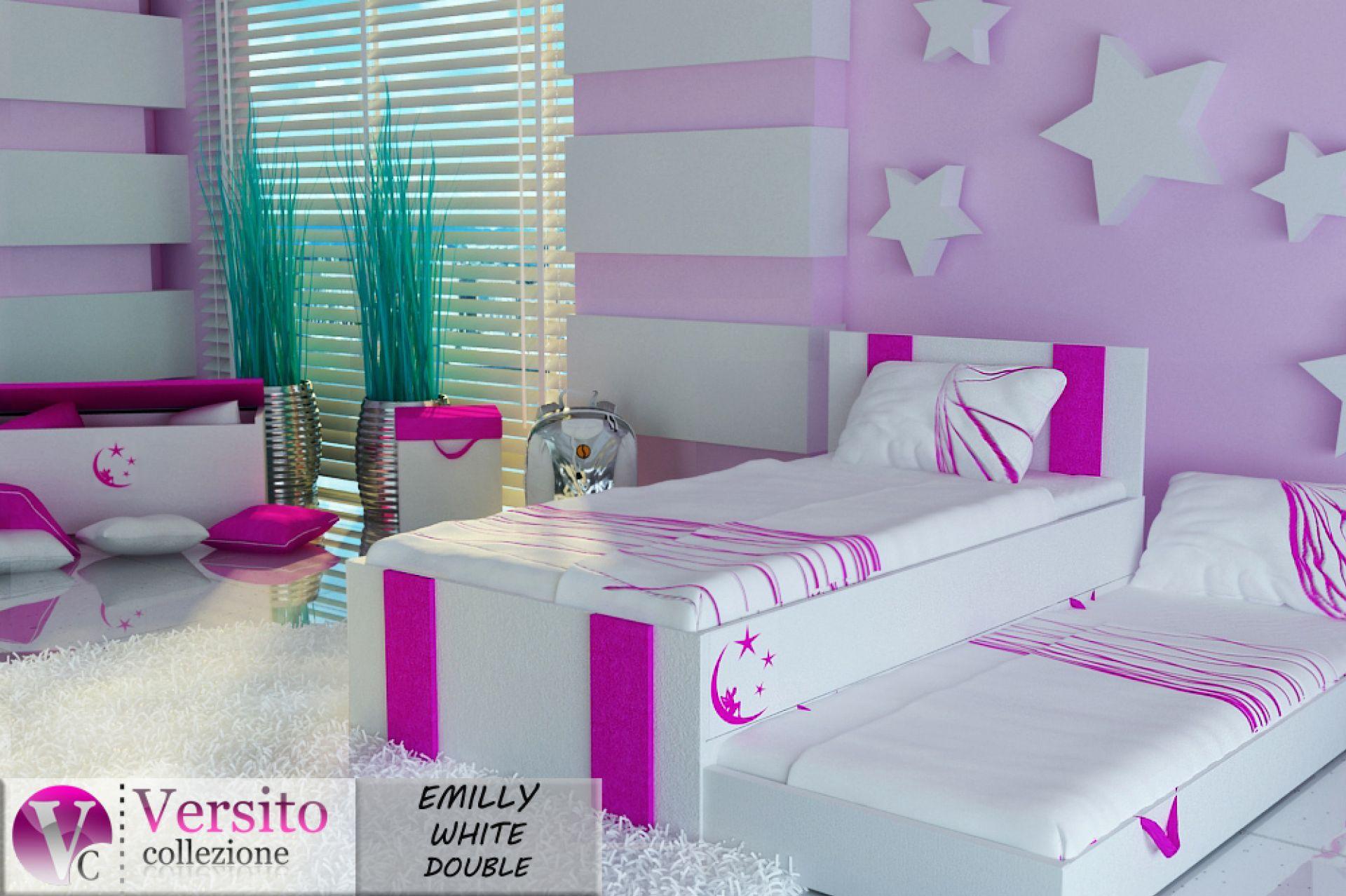łóżko wysuwane dziecięce dla dziewczynki