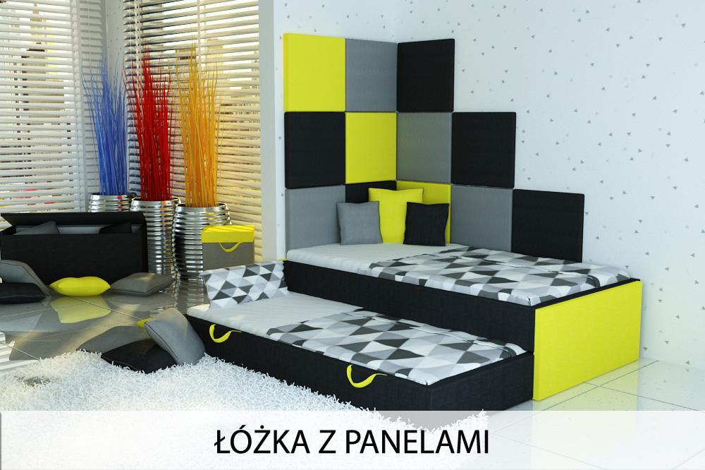 łóżko dla dziecka z panelami, łóżko dziecięce z panelami